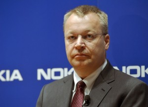 Grim or Determined? - Stephen Elop looks on during Nokia's press conference in Espoo, June 14, 2012.