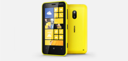nokia lumia 620 in yellow